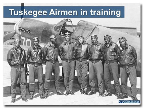 Tuskegee Airmen slide: after