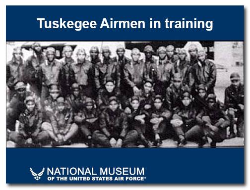 Tuskegee Airmen slide: before