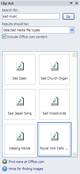 Sad music clipart screen