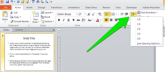 how to change spacing between bullet points in word