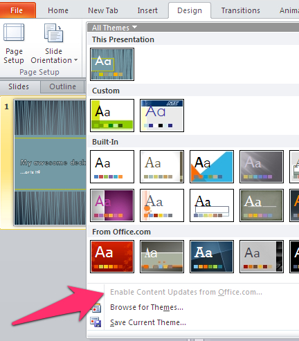 What's the best built-in PowerPoint theme? | Laura M. Foley Design