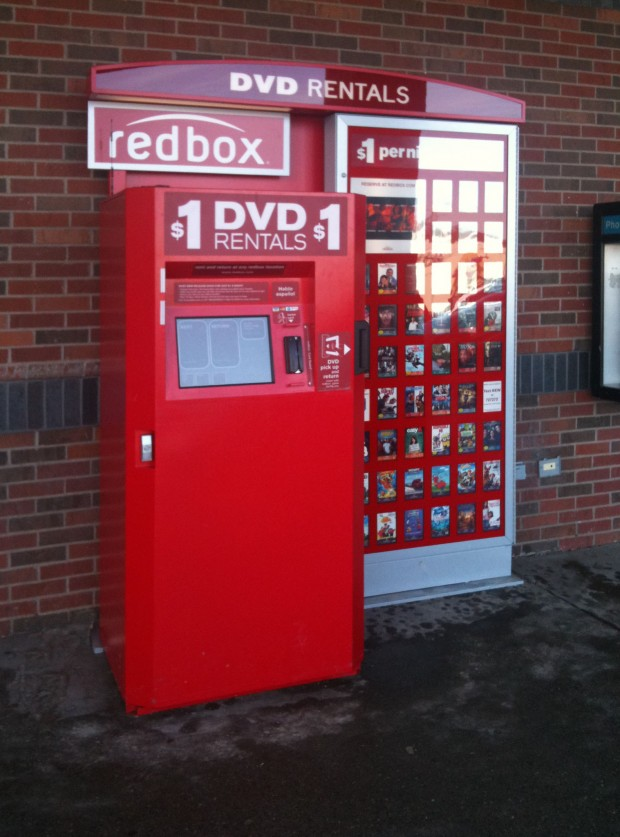 Redbox at grocery store