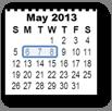 Calendar drawn in PPT