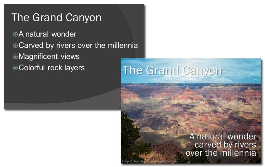 Grand Canyon slides