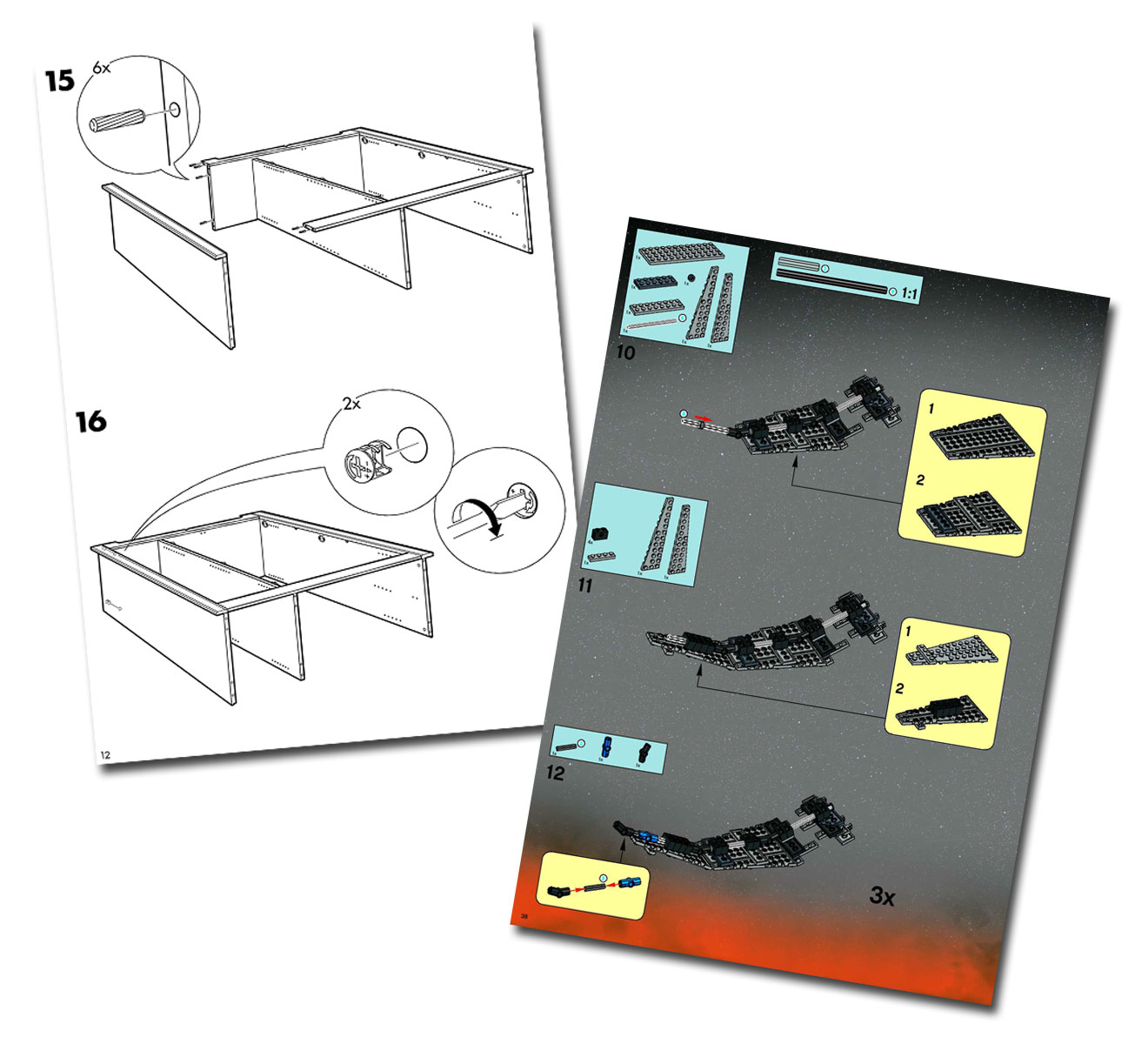 IKEA and LEGO assembly instructions