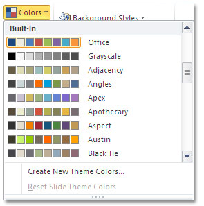 PPT color choices