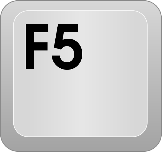 Keyboard key: F5