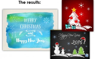 Making unique personal holiday cards in PowerPoint