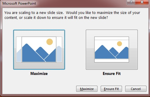 Slide scaling window