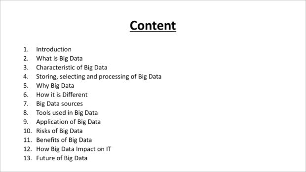 Before: Table of Contents slide
