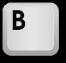 Keyboard key: B
