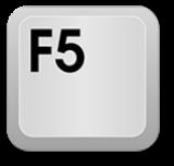 Keyboard key: F5