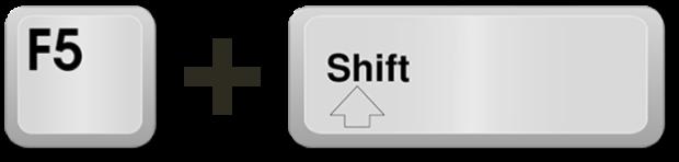 Keyboard Keys: F5 + Shift